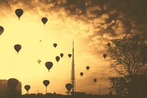 Ballons in der Luft